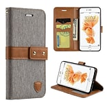 Insten Union Pouch Fabric + Leather Wallet Case - Grey For Iphone 7
