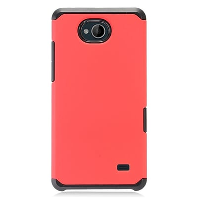 Insten Dual Layer Hybrid Rubberized Hard TPU Shockproof Case Cover For ZTE Tempo - Red/Black