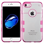 Insten Hard Crystal TPU Case For Apple iPhone 7 - Clear/Hot Pink