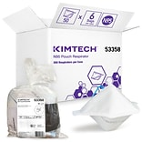 Kimtech Disposable N95 Pouch Respirator, Universal Size, White, 300/Carton (53358)