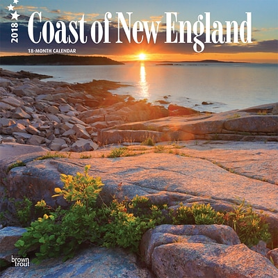 Coast of New England 2018 12 x 12 Inch Monthly Square Wall Calendar