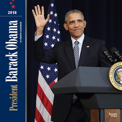 President Barack Obama 2018 12 x 12 Inch Monthly Square Wall Calendar