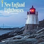 Lighthouses, New England 2018 12 x 12 Inch Monthly Square Wall Calendar