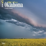 Oklahoma, Wild & Scenic 2018 12 x 12 Inch Monthly Square Wall Calendar