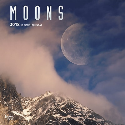 Moons 2018 12 x 12 Wall Calendar with Foil Stamped Cover