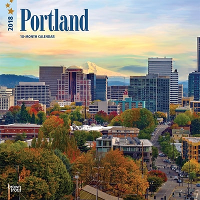 Portland 2018 12 x 12 Inch Monthly Square Wall Calendar