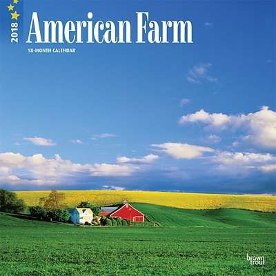 American Farm 2018 12 x 12 Inch Monthly Square Wall Calendar