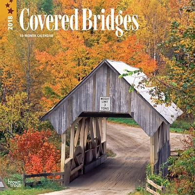 Covered Bridges 2018 12 x 12 Inch Monthly Square Wall Calendar