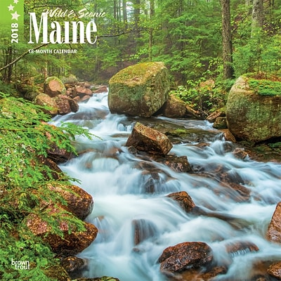Maine, Wild & Scenic 2018 12 x 12 Inch Monthly Square Wall Calendar