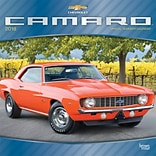 Camaro 2018 12 x 12 Inch Monthly Square Wall Calendar with Foil Stamped Cover