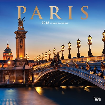 2018 Blue Sky 12 x 12 Square Wall Calendar with Foil Stamped Cover, Paris (9781465089120)