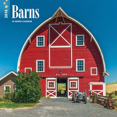 Barns 2018 12 x 12 Inch Monthly Square Wall Calendar