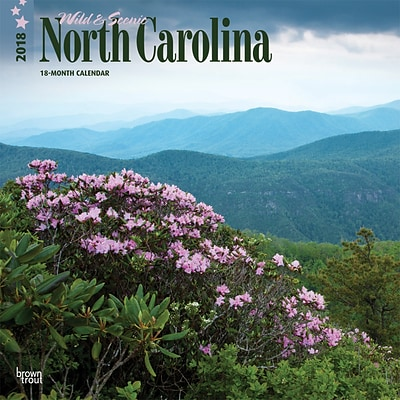 North Carolina, Wild & Scenic 2018 12 x 12 Inch Monthly Square Wall Calendar