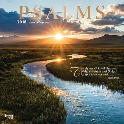 Psalms 2018 12 x 12 Inch Square Wall Calendar with Foil Stamped Cover