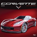 Corvette 2018 12 x 12 Inch Monthly Square Wall Calendar with Foil Stamped Cover