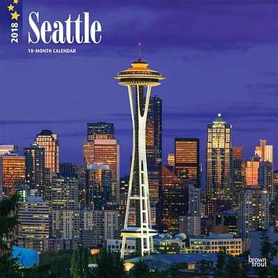 Seattle 2018 12 x 12 Inch Monthly Square Wall Calendar
