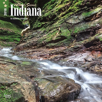 Indiana, Wild & Scenic 2018 12 x 12 Inch Monthly Square Wall Calendar
