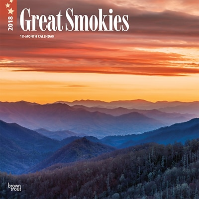 Great Smokies 2018 12 x 12 Inch Monthly Square Wall Calendar