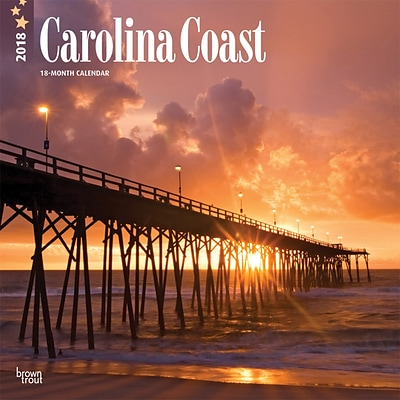 Carolina Coast 2018 12 x 12 Inch Monthly Square Wall Calendar