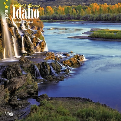 Idaho, Wild & Scenic 2018 12 x 12 Inch Monthly Square Wall Calendar