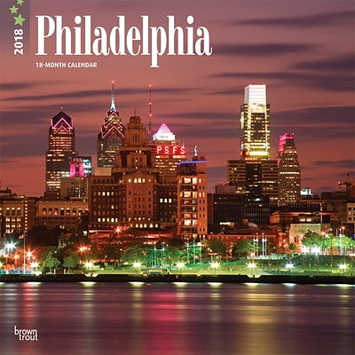 Philadelphia 2018 12 x 12 Inch Monthly Square Wall Calendar