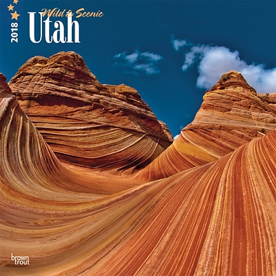 Utah, Wild & Scenic 2018 12 x 12 Inch Monthly Square Wall Calendar