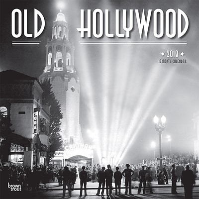 Old Hollywood 2018 12 x 12 Inch Monthly Square Wall Calendar