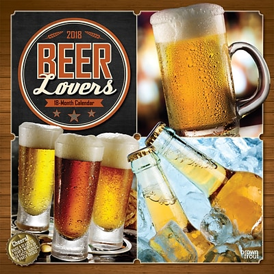 Beer Lovers 2018 12 x 12 Inch Monthly Square Wall Calendar