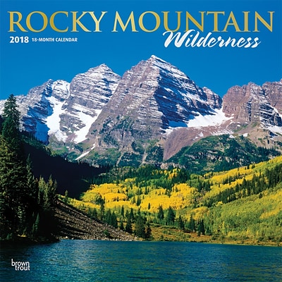 Rocky Mountain Wilderness 2018 12 x 12 Inch Monthly Square Wall Calendar