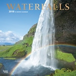 Waterfalls 2018 12 x 12 Wall Calendar with Foil Stamped Cover