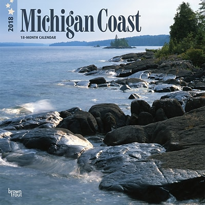 Michigan Coast 2018 12 x 12 Inch Monthly Square Wall Calendar