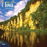 Iowa, Wild & Scenic 2018 12 x 12 Inch Monthly Square Wall Calendar