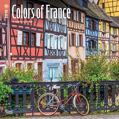 Colors of France 2018 12 x 12 Inch Square Wall Calendar