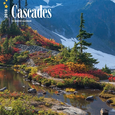 Cascades 2018 12 x 12 Inch Monthly Square Wall Calendar