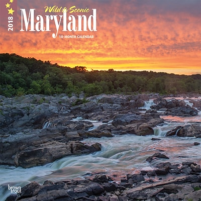 Maryland, Wild & Scenic 2018 12 x 12 Inch Monthly Square Wall Calendar