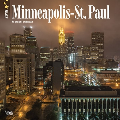 Minneapolis St. Paul 2018 12 x 12 Inch Monthly Square Wall Calendar