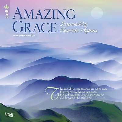 Amazing Grace 2018 12 x 12 Inch Square Wall Calendar