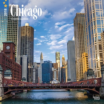Chicago 2018 12 x 12 Inch Monthly Square Wall Calendar