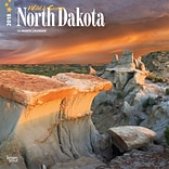 North Dakota, Wild & Scenic 2018 12 x 12 Inch Monthly Square Wall Calendar