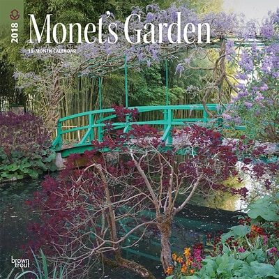 Monets Garden 2018 12 x 12 Inch Monthly Square Wall Calendar