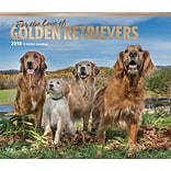 For the Love of Golden Retrievers 2018 Deluxe Wall Calendar with Foil Stamped Cover