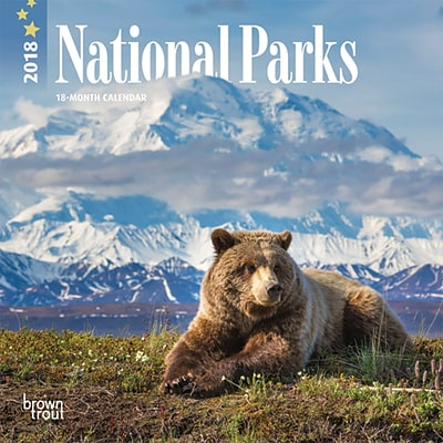 National Parks 2018 7 x 7 Inch Monthly Mini Wall Calendar