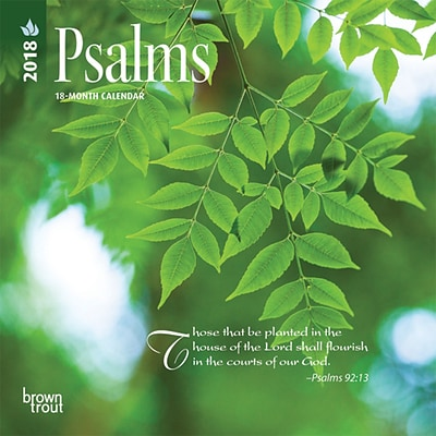 Psalms 2018 Mini 7 x 7 Inch Wall Calendar