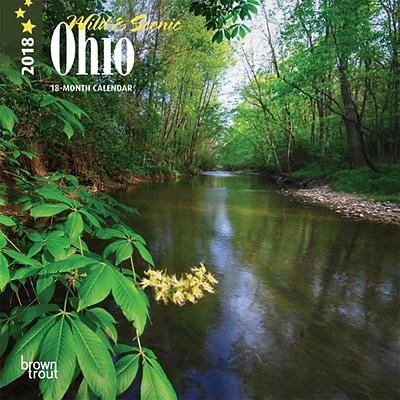 Ohio, Wild & Scenic 2018 7 x 7 Inch Monthly Mini Wall Calendar