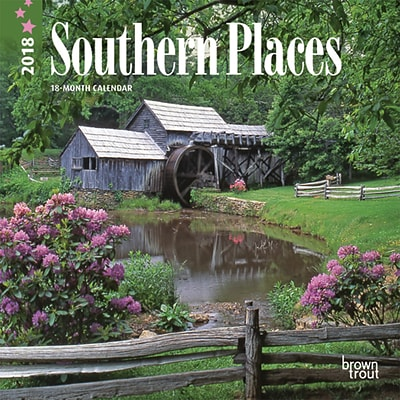 Southern Places 2018 7 x 7 Inch Monthly Mini Wall Calendar