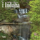 Indiana, Wild & Scenic 2018 7 x 7 Inch Monthly Mini Wall Calendar