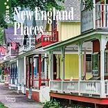 New England Places 2018 7 x 7 Inch Monthly Mini Wall Calendar