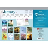 7 Habits of Highly Effective People, The 2018 17 x 12 Inch Desk Pad Calendar