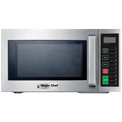 Magic Chef .9 Cubic-ft Commercial Microwave, Silver (MCCM910ST)