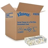 Kleenex Standard Facial Tissue, 2-Ply, White, 125 Sheets/Box, 12 Boxes/Pack (03076)